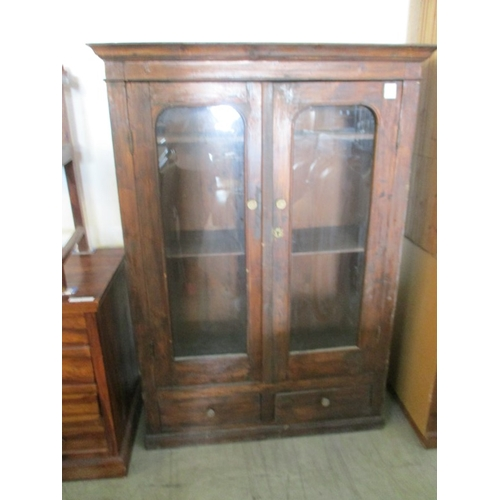 17 - Vintage Wooden Display / Cupboard Unit Glass Front...