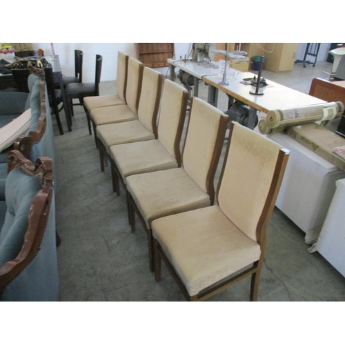 26 - 6 x Beige & Brown Dining Chairs...