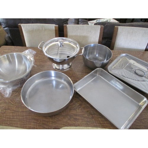 25 - Qty of Stainless Steel Kitchen Items...