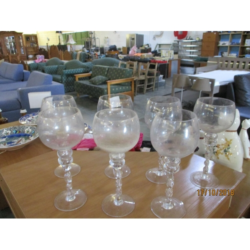 57 - 7 x Glass Candle Holders...