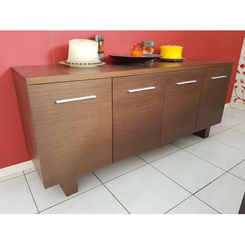 20 - 'Exello' Modern Walnut Colour Sideboard Unit with Metal Handles (180 x 50cm), (RRP €1280) ** Trade s...