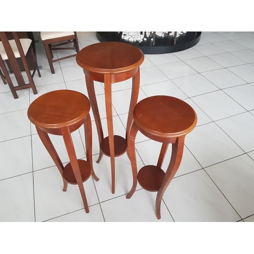 30 - Three Wooden Plant Pot Stands (Two Small, Ones Large), (RRP €875) ** Trade sale, VAT is payable on f...