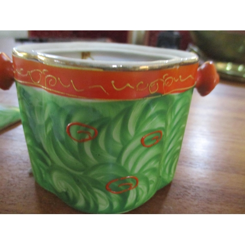 15 - Small Vintage Hand Painted Japanese Pot ** CHARITY AUCTION - NO COMMISSION **...