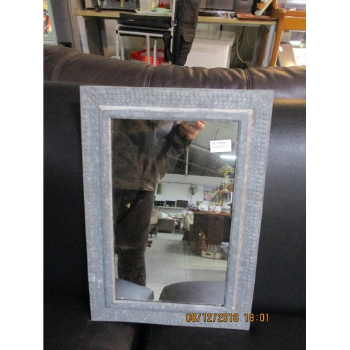 76 - Wall Mirror with Metal Surround...