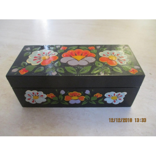 13 - Hand Painted Russian Mini-Jewellery Box ** CHARITY AUCTION - NO COMMISSION **...
