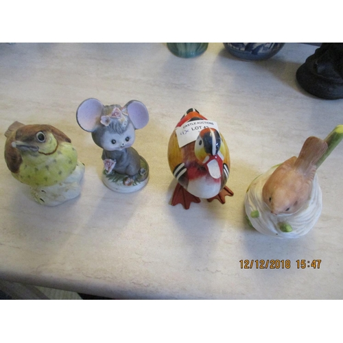 42 - Four Animal Ornaments ** CHARITY AUCTION - NO COMMISSION **...