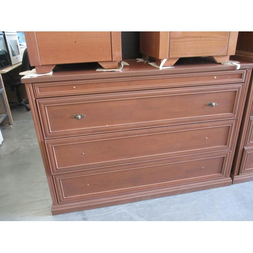 10 - Dark Wood Chest of Drawers with Bronze Handles, (RRP Circa €695) ***NO RESERVE***...