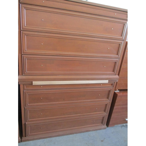 11 - Pair of Matching Dark Wood Chest of Drawers ***NO RESERVE***...