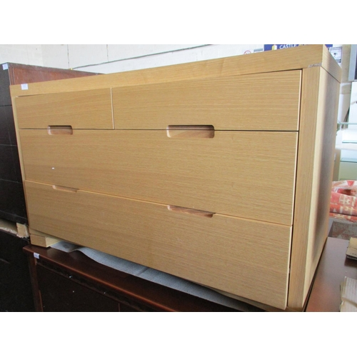 23 - Light Wood 4 - Drawer Modern Chest of Drawers ***NO RESERVE***...