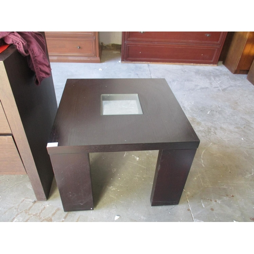 37 - Coffee Table with Glass Center ***NO RESERVE***...