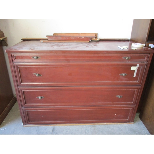 38 - Classical Style 4 - Drawer Chest of Drawers (A/F: Missing or Damaged Base Surround)  ***NO RESERVE**...