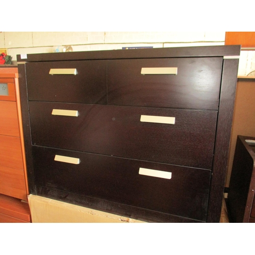 14c - Modern Italian Dark Wood  4-Drawer Chest of Drawers, (RRP €695) Boxed. *** NO RESERVE *** [C]...