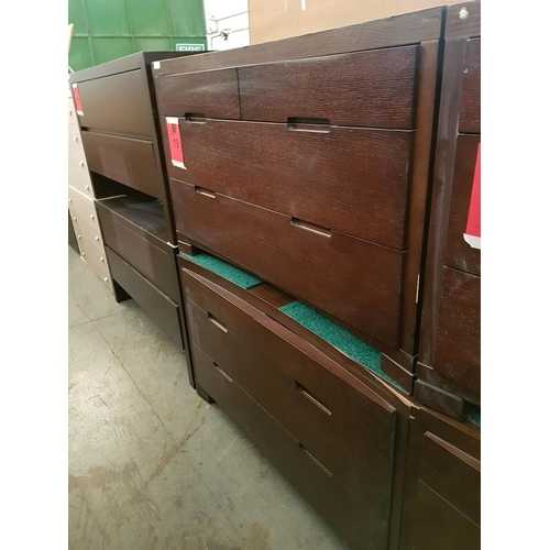 19 - Pair of Matching Modern 4 - Drawer Chest of Drawers (2), Nb. A/F, Some Lose Veneer, Chips or Marks *...
