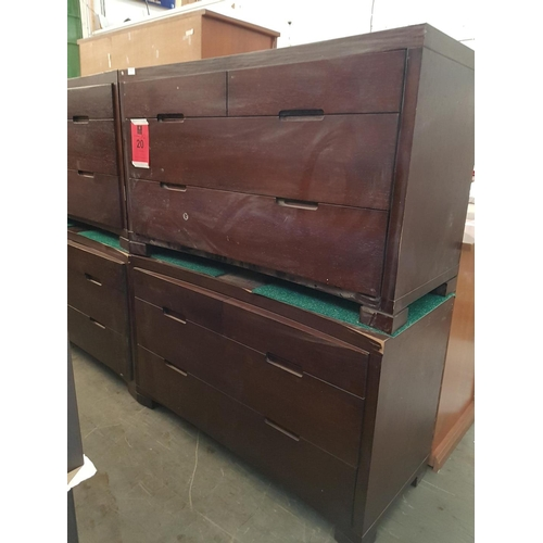 20 - Pair of Matching Modern 4 - Drawer Chest of Drawers (2), Nb. A/F, Some Lose Veneer, Chips or Marks  ...