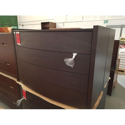 32a - Modern Italian Bow Fronted 4-Drawer Chest of Drawers (RRP €695) ***NO RESERVE***...