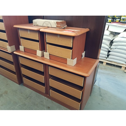 23 - Chest of Drawers with Pair of Matching Bedside Units (Missing Drawer Fronts) (3) ***NO RESERVE***...