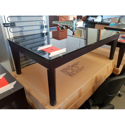 4b - Glass Top Coffee Table (In Box requiries Assembly) ***NO RESERVE***...
