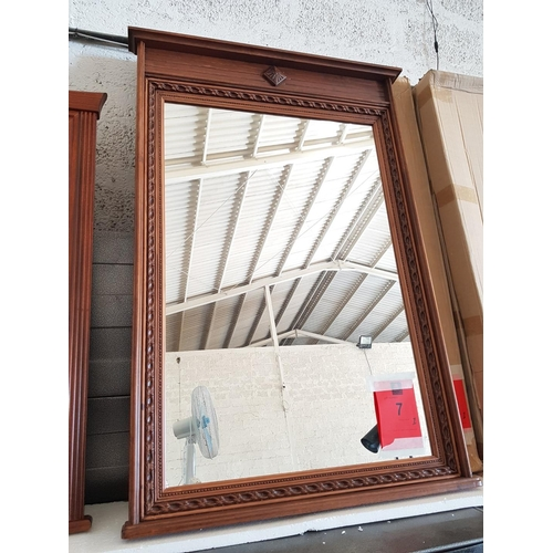 10 - Decorative Wooden Framed Wall Mirror, 75 x 113cm ***NO RESERVE***...