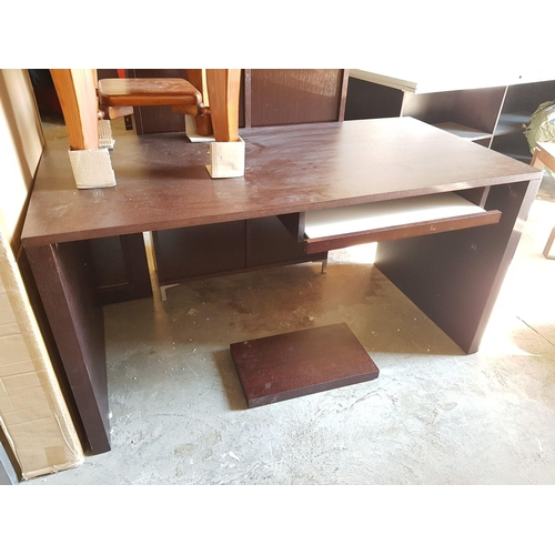 22 - Modern Venge Wood Desk with Slide Out Keyboard Shelf and Foot Rest (Boxed, Requires Assembly)***NO R...