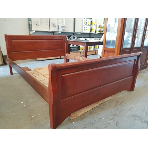 4 - Double Bed Frame (No Base), 157 x 218cm (Boxed, Requires Assembly)  ***NO RESERVE***...