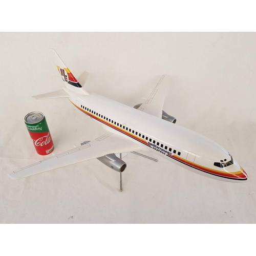 12 - Large Mediterranean Express Airplane by Skyland Models, Slough, England on Stand, Over all Length 60...