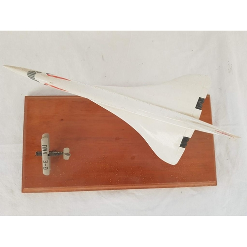 2 - A Space Model (Made in London) British Airways Concorde Aircraft (Over all Length 30cm) with De Havi...