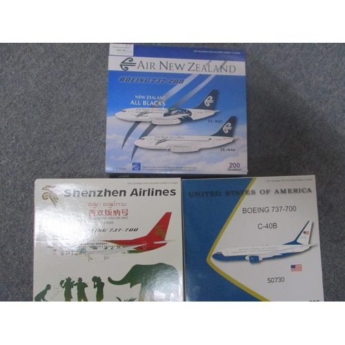 28 - Series of Die Cast 2 x Boeing 737-700 1:200 Scale Model and 1 x Boeing 737-700 in Different Liveries...