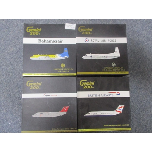 31 - Series of Gemini 200 Die Cast 1:200 Model Scale inc Hawker Siddeley HS-748-2A, Hawker Siddeley HS-74...