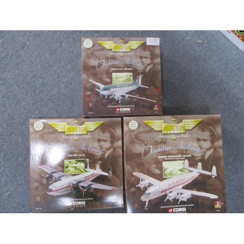 48 - Series from Corgi Classic of 3 x Aviaton Archive Die Cast 1:144 Scale Model inc Douglas C-47A Aer Li...