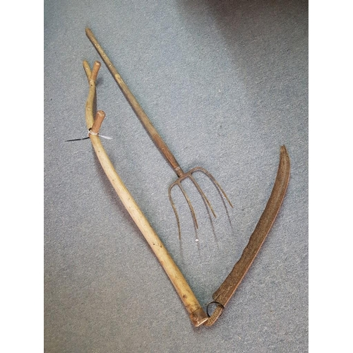 20 - Vintage Pitch Fork and Scythe (2)...