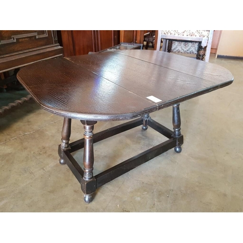 30 - Small Drop Leaf Table with Revolving Top...