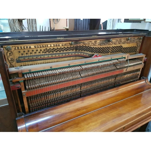 32 - Antique Upright Piano by Joseph Wallis & Son Ltd, London (Serial Number 5788). Walnut Case and Iron ...