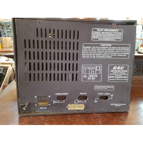 35 - Vintage G.E.C Radio with Serial Number: SS46517...