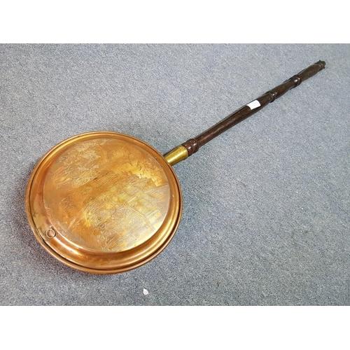 8 - Vintage Copper Bed Warmer...