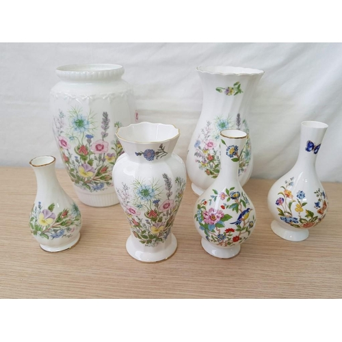 43 - Collection of Aynsley China; Pembroke & Wild Tudor Pattern Vases (7)...