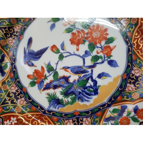 45 - 2 x Japanese Plates Decorated with Birds and Flowers (2)...