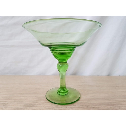 46 - Uranium Glass Bon Bon Dish...