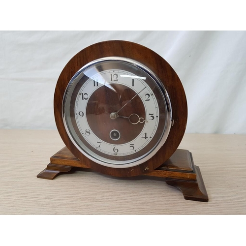 48 - Vintage Newport 8-Day Key Wind Wooden Mantle Clock...