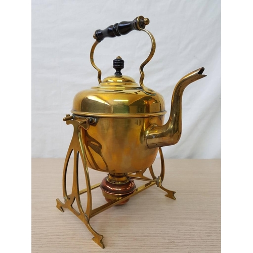 57 - Copper Spirit Kettle with Stand and Burner...