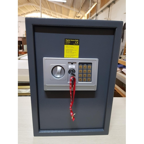 2 - Digital Home Safe with Key (1 x Key in the Office and Other on the Safe) (Code 2001) (31cm x 35cm x ...