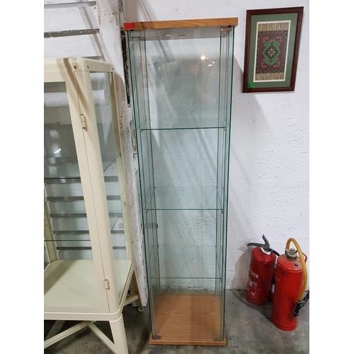 4 - Glass Display Unit (Ikea) (42.5cm x 36.5cm x 163.5cm)...