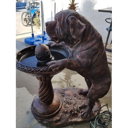 9 - Large Garden Fountain with Dog (Approx. Height :100cm)...