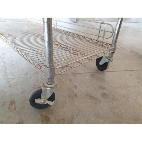 26 - Stainless Steel 6 - Tier Shelving Unit / Racking on Wheels (122cm x 47cm x 195cm)...