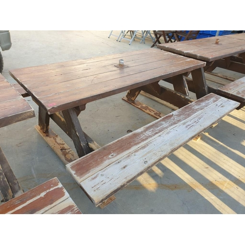 31A - Solid Wood Picnic Bench...