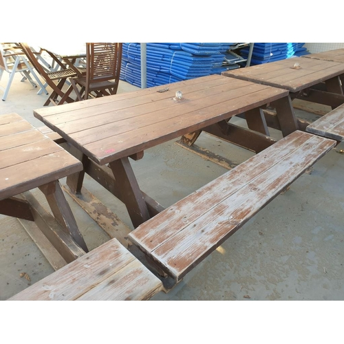 31C - Solid Wood Picnic Bench...