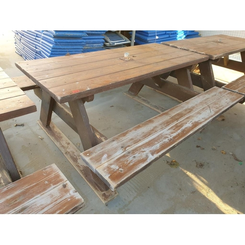 31D - Solid Wood Picnic Bench...