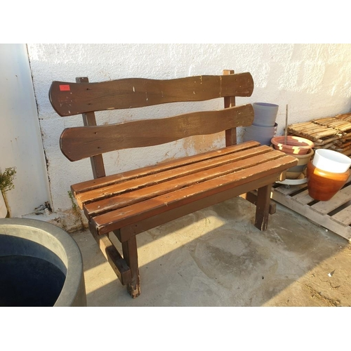 34 - Solid Wood Bench...