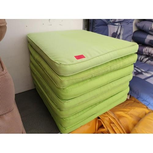 37 - 7 x Lime Green Seat Cushions...