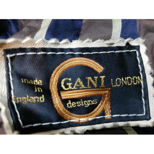 11 - Gani Leather Jacket (Beige / Brown) (Size L)