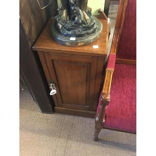 1004 - Victorian walnut bedside cabinet....